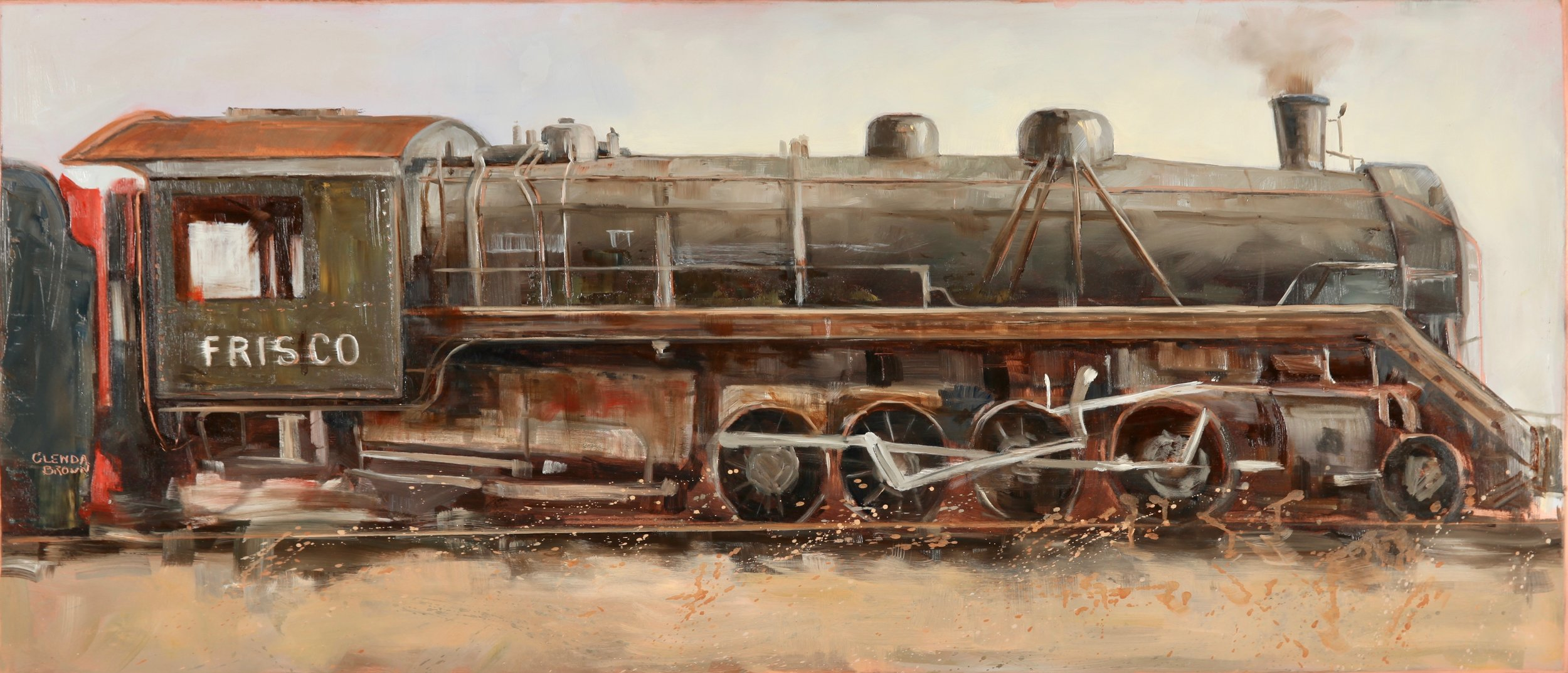All Aboard - Oil on Copper - Available - Gallery 202 Franklin TN
