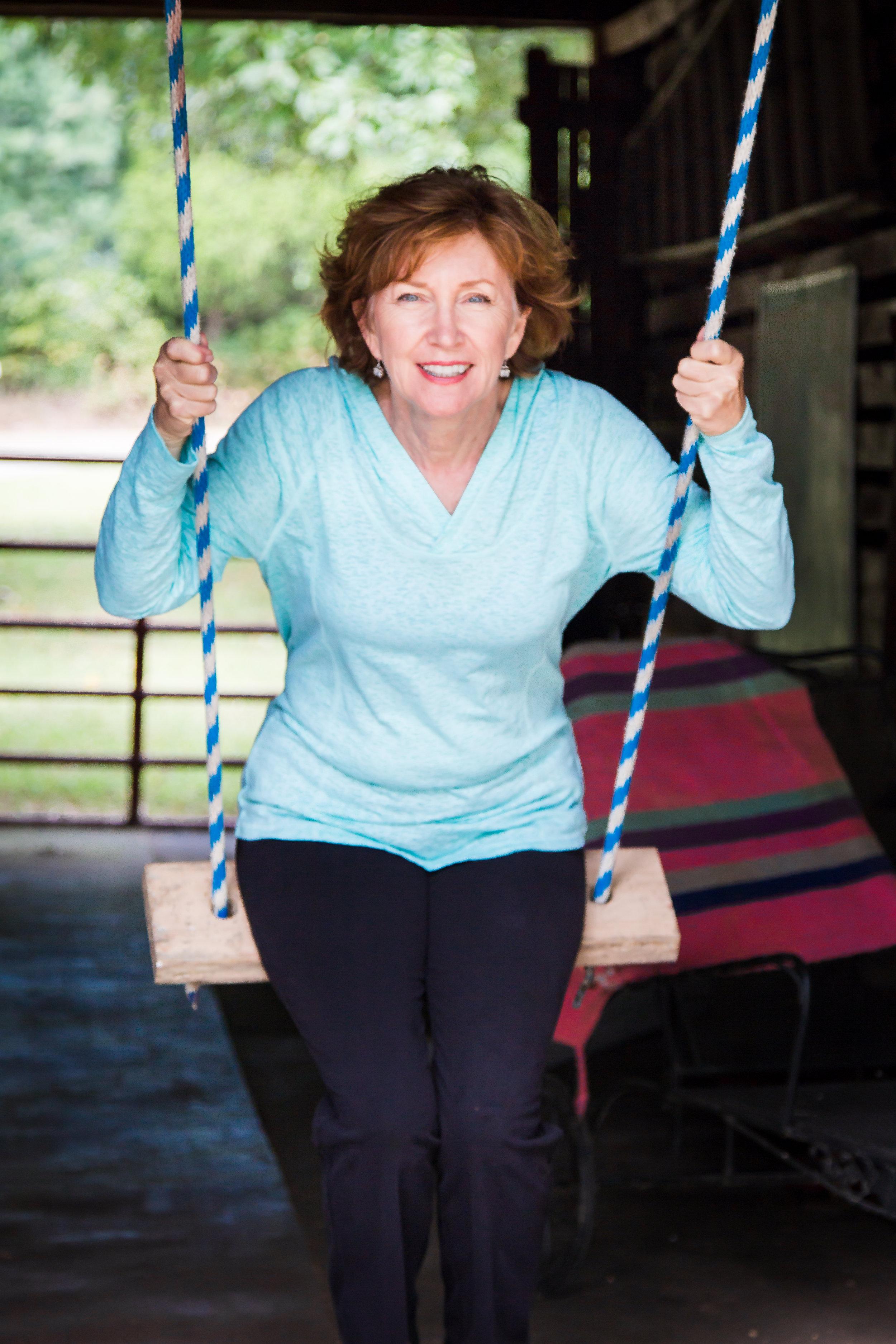 Glenda having fun!