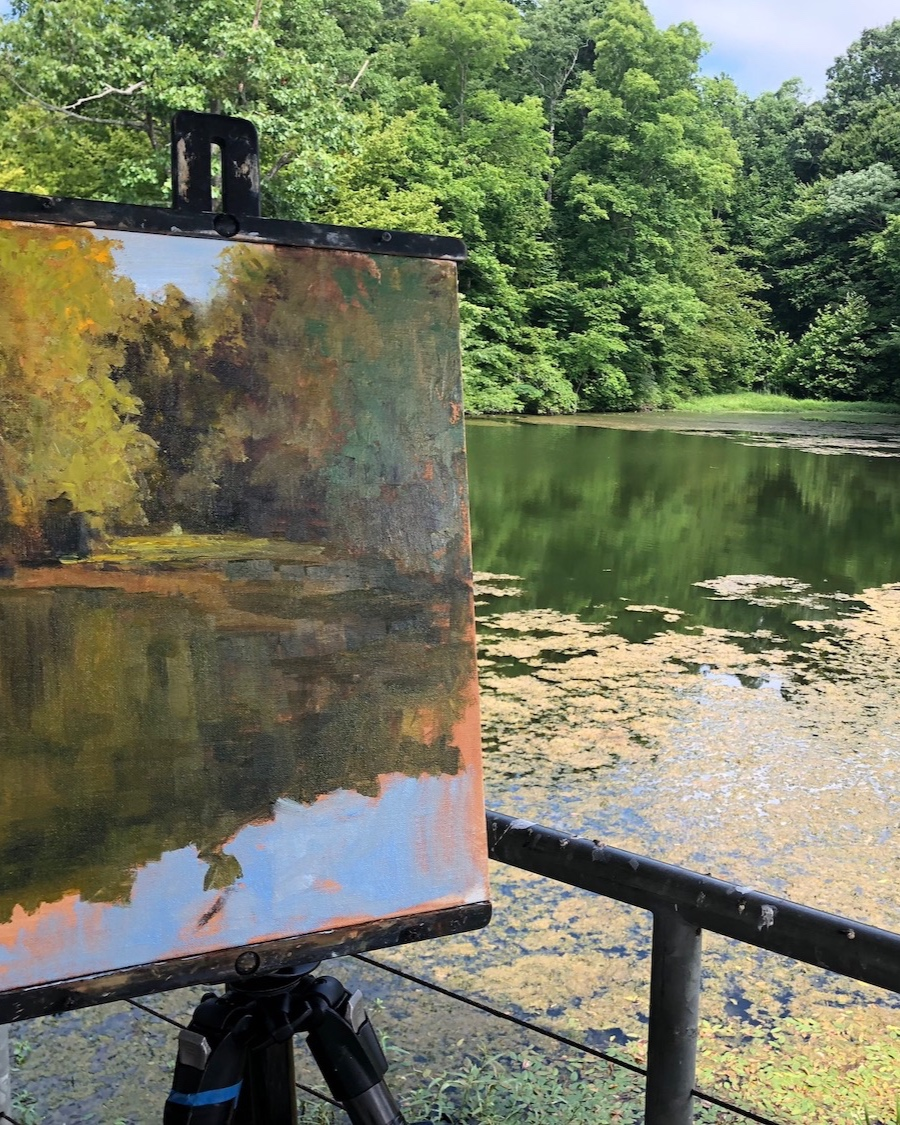 PLEIN AIR PAINTING ON LOCATION -
