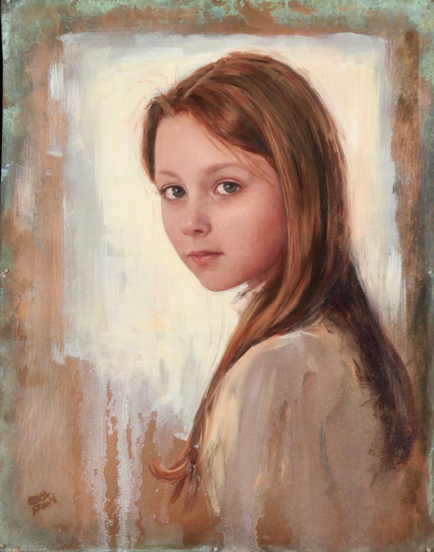 Chloe - Arlington Tennessee - Oil on Copper - 17x15