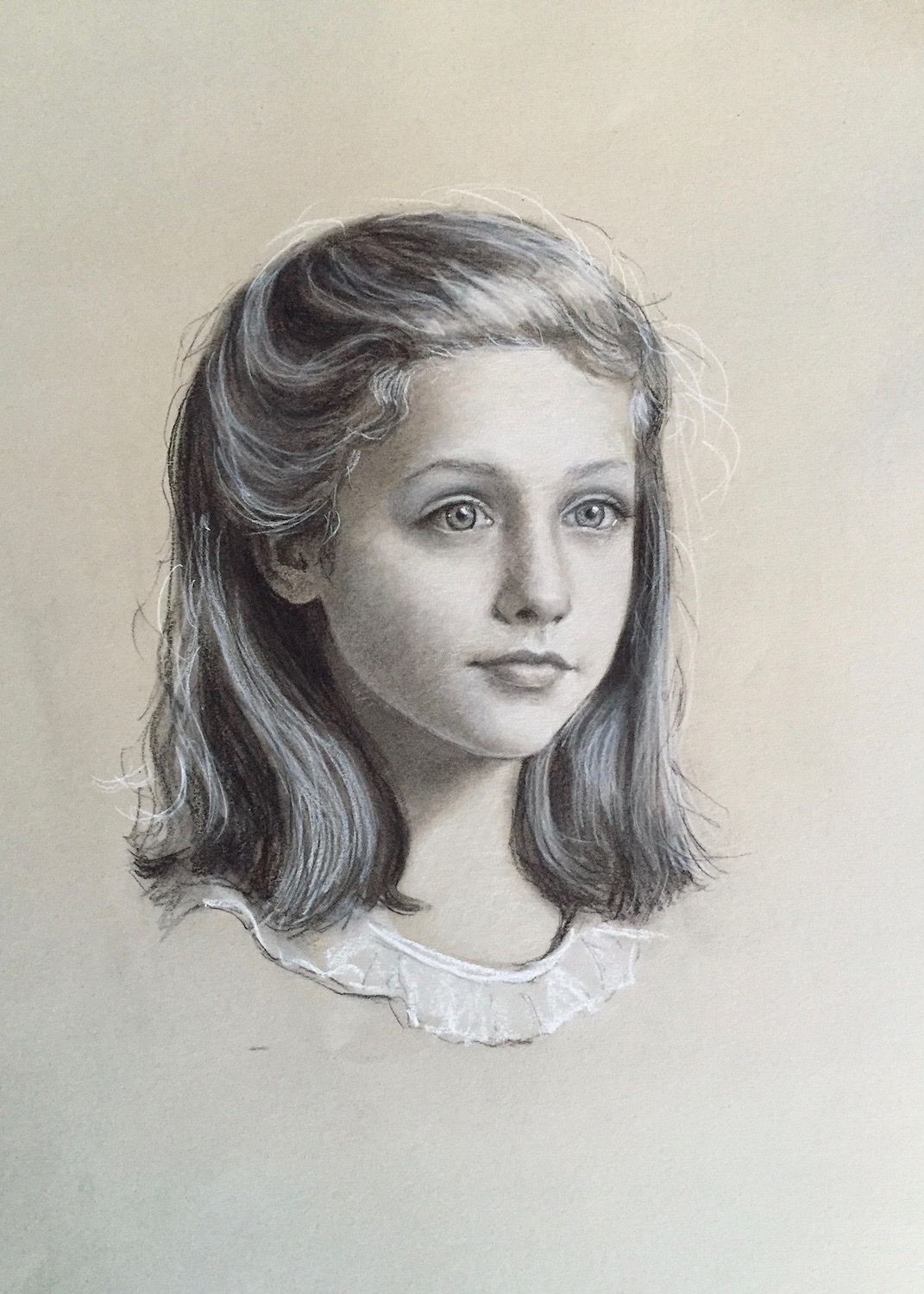 Elizabeth - Charcoal on Canson Paper - 14.5x10.5