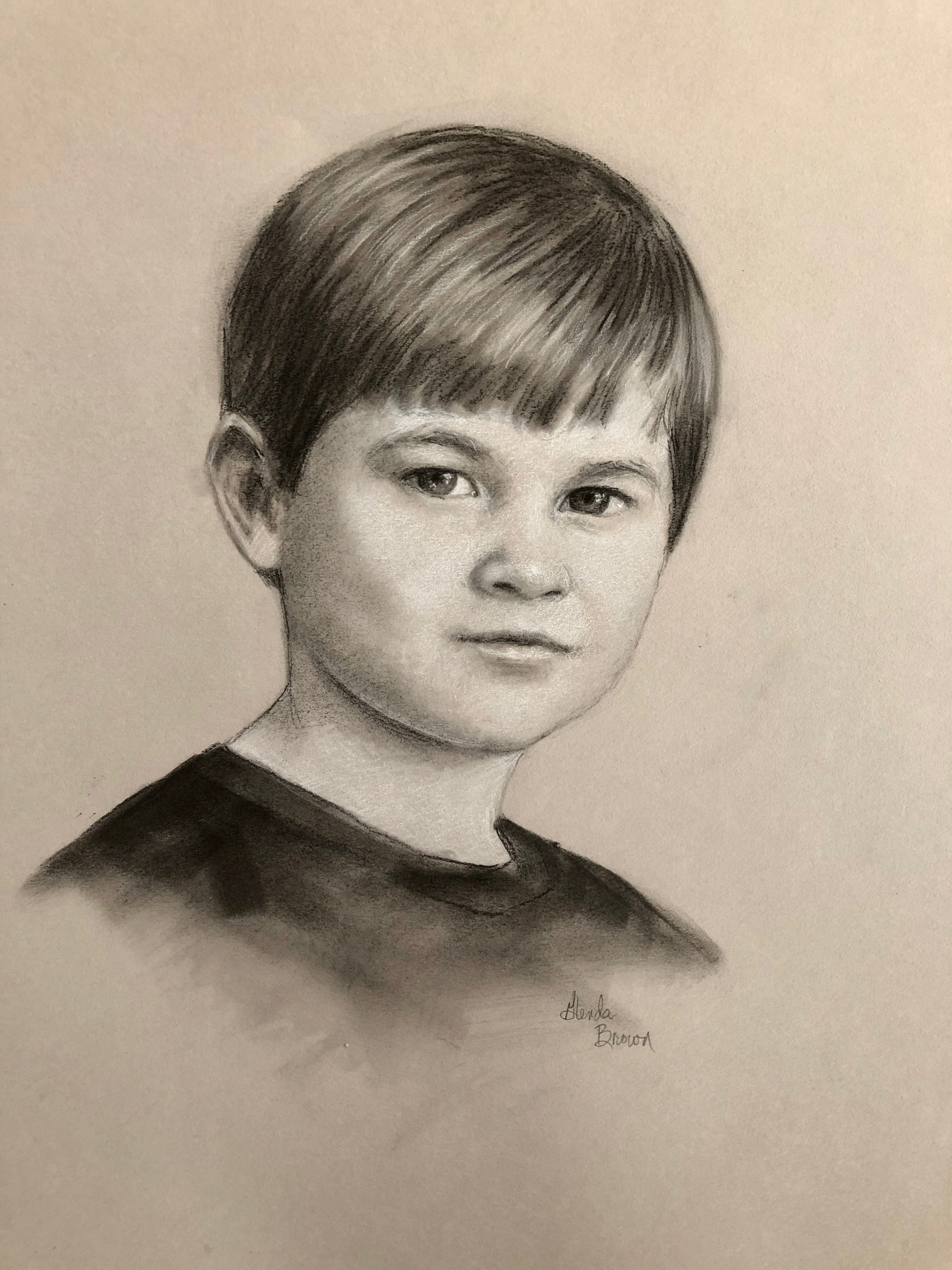 Sam - Charcoal on Canson Paper - 14.5x10.5