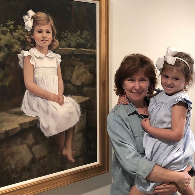 Amazing how fast children change from year to year! Capture the perfect look you want remember! @portraitsinc #chattanooga #love #children #oilpainting #oilportrait #chattanoogatennessee