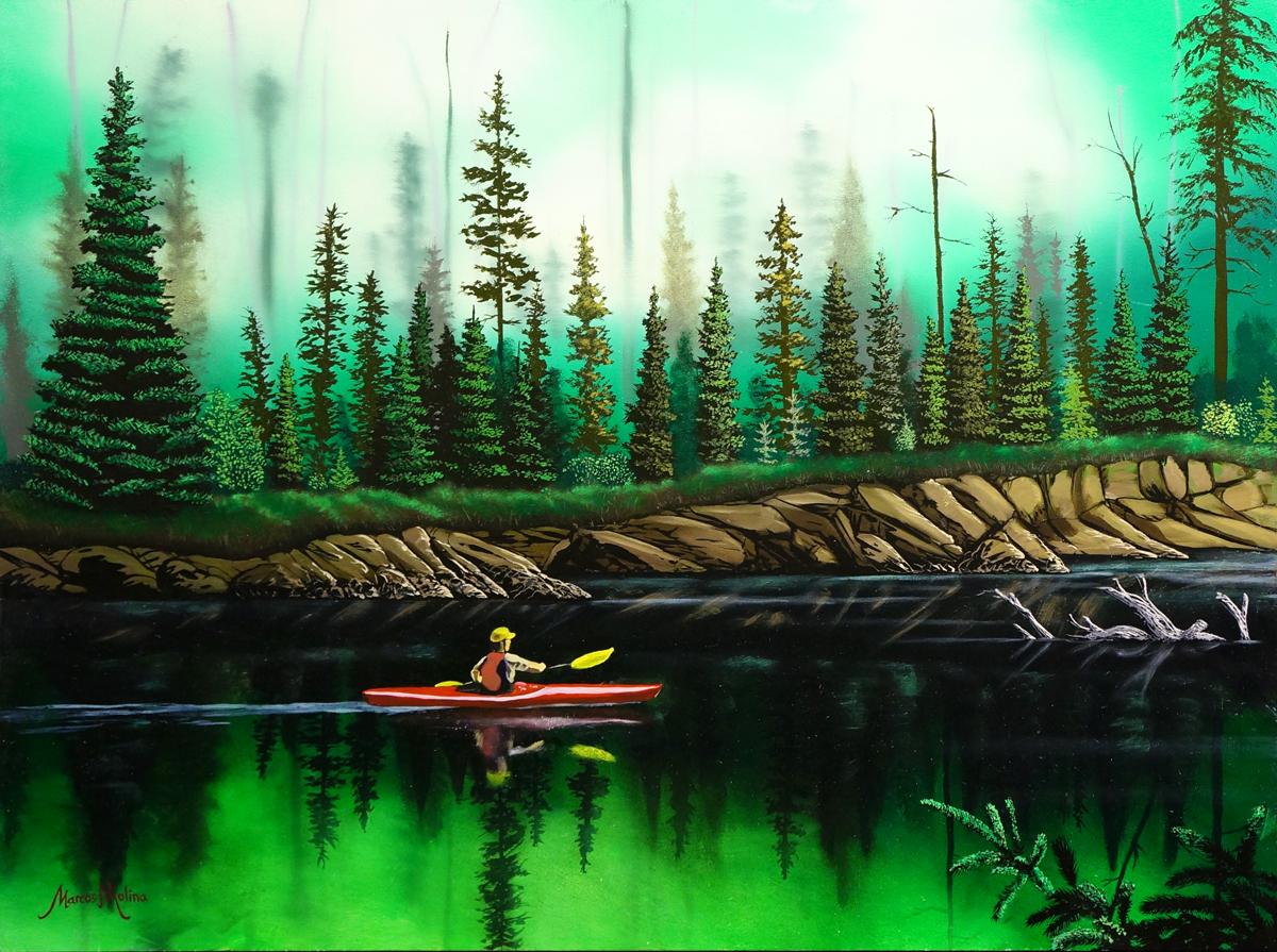 A peaceful paddle