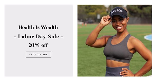 LABOR DAY SALE IS LIVE. 20% off until Monday. Auto applied at checkout. ❤️=💰#teamhealthiswealth . Link is in the bio.