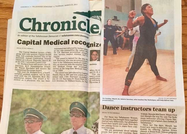 The Chronicle - Dance Instructors Team Up- Journey to Health workshop