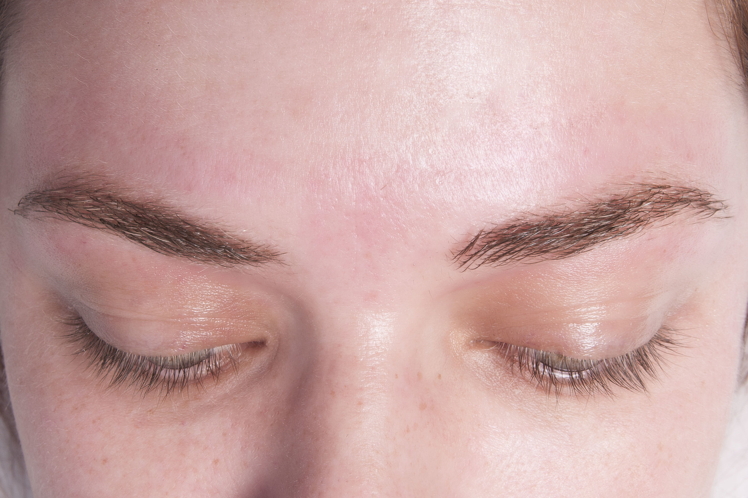 After an Eyebrow Wax with Shaping
