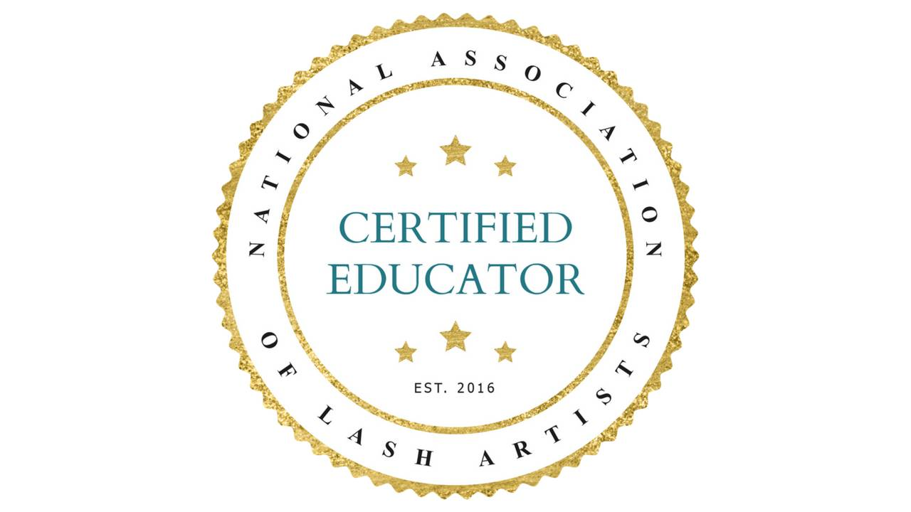 Kait rak is a certified educator through the national association of lash artists (nala)