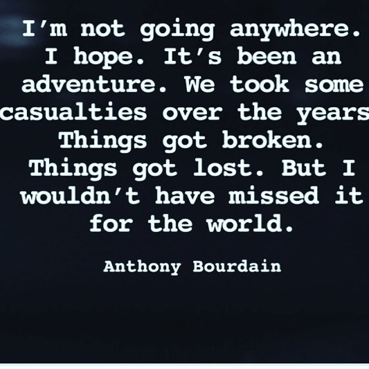 What an adventure he had. 💛☀️ May you Rest In Peace Pirate. 🦋😢#anthonybourdain #rip