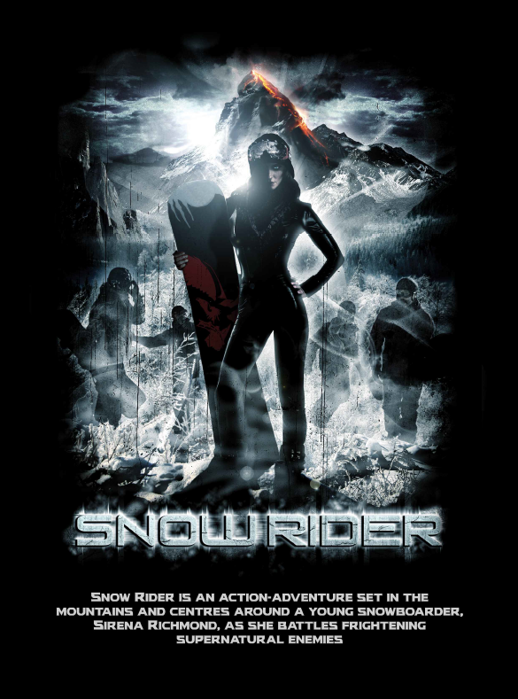 SNOWRIDER (feature film) - WRITTEN AND DIRECTED BY: Mono GhoseSnow Rider is an action-adventure set in the mountains and centers around a young snowboarder, Sirena Richmond, as she battles frightening, supernatural enemies.