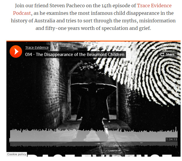 True Crime Magazine - True Crime Magazine listed Trace Evidence's Episode 14 - The Disappearance of the Beaumont Children in an article