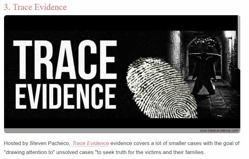 Women.com - Women.com listed Trace Evidence #3 on their list of the