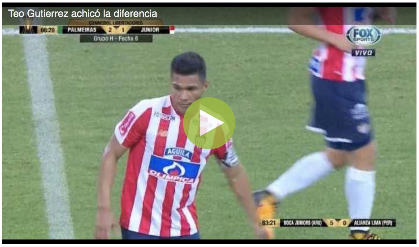 Teo Gutierrez achicó la diferencia