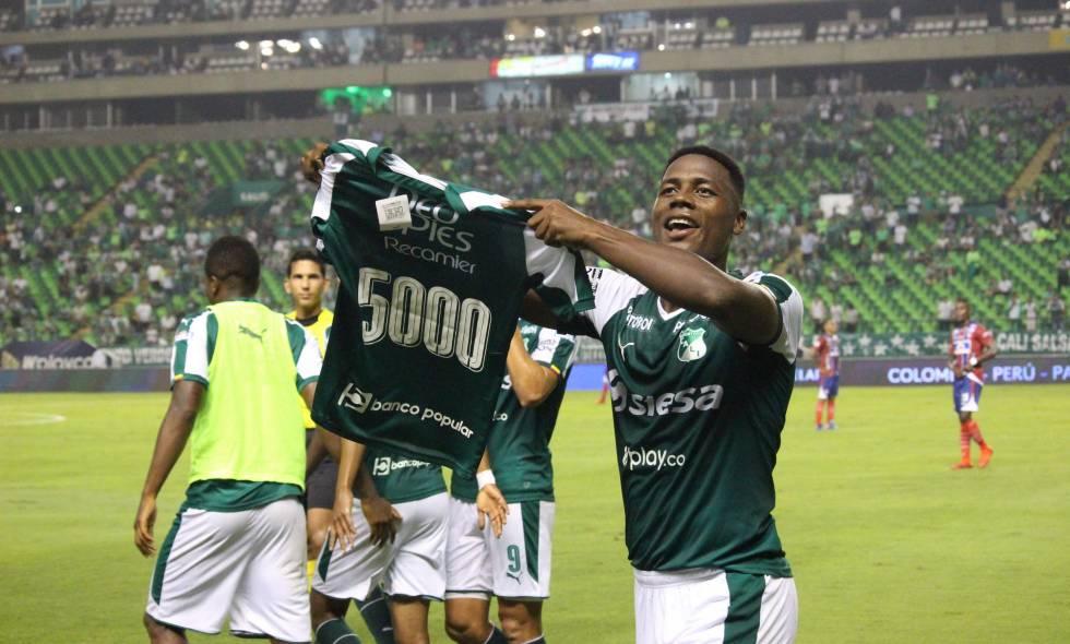 Danny Rosero marcó el gol 5000 en la historia del Deportivo Cali en Liga
