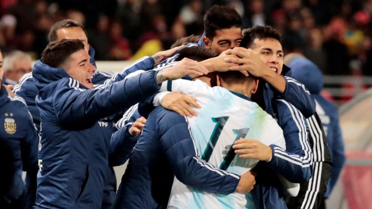 LATE GOAL GIVES ARGENTINA MORALE-BOOSTING WIN IN MOROCCO
