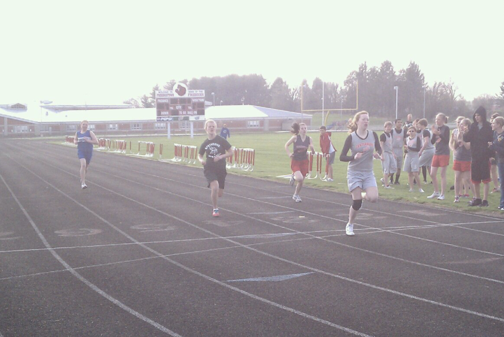 Finishing 1st in the 400 in 2011