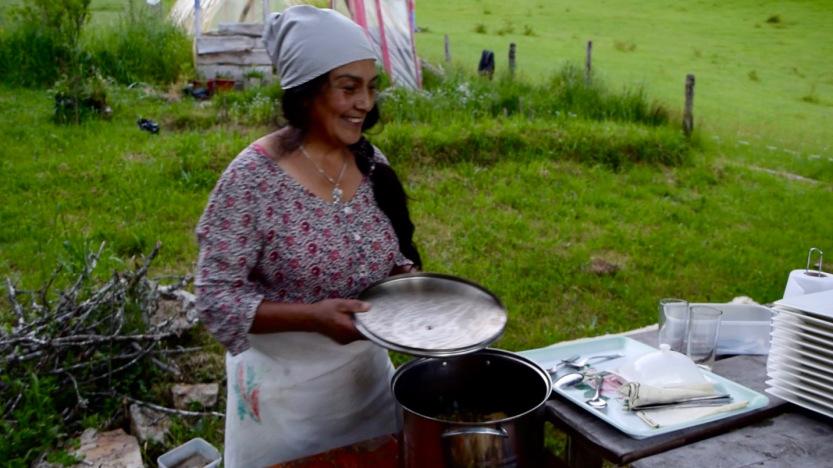 [Mapuche hospitality. Photo: Kayla Lopez]
