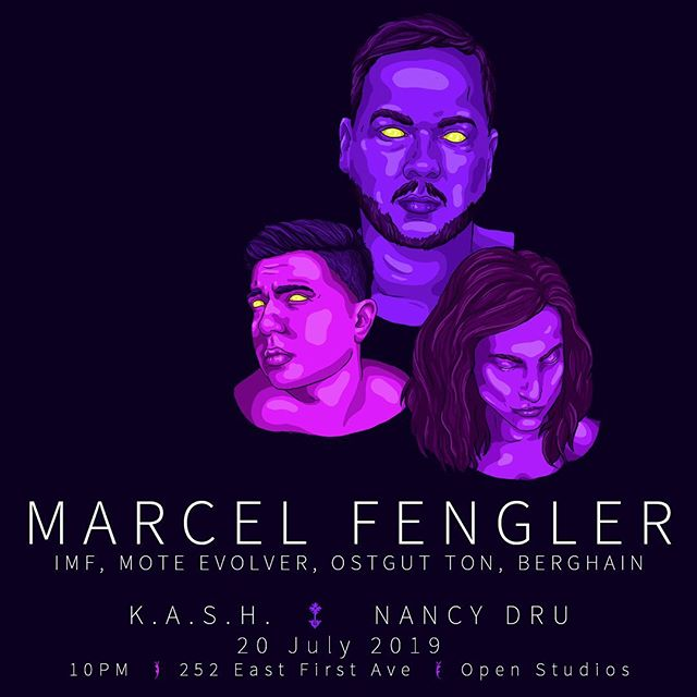 Mark your calendars! July 20 - @marcel_fengler returns to Vancouver, supported by @kash_thekhan and @djnancydru. From your friends at @proper.vancouver and @sunwavebc along with @openstudiosvan. Tix available from @showpassevents