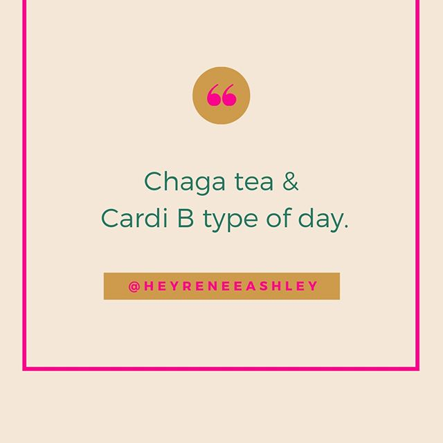 I'm on tea and inspirational rap music today. How's your Monday going? 😩⠀⠀⠀⠀⠀⠀⠀⠀⠀ •⠀⠀⠀⠀⠀⠀⠀⠀⠀ •⠀⠀⠀⠀⠀⠀⠀⠀⠀ If you haven't already, download my free hormonal balance guide in my bio! We WILL find some balance this week. Who agrees? ✋🏾⠀⠀⠀⠀⠀⠀⠀⠀⠀ -⠀⠀⠀⠀⠀⠀⠀⠀⠀ #chagatea #health #hormones #hormonalbalance #mondaysonmondays  #planoly