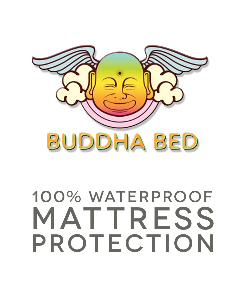 Mattress protection for bed wetting, incontinence and dust mites. 100 percent waterproof mattress protection. Buddha Bedding mattress covers are available in 19 sizes.
