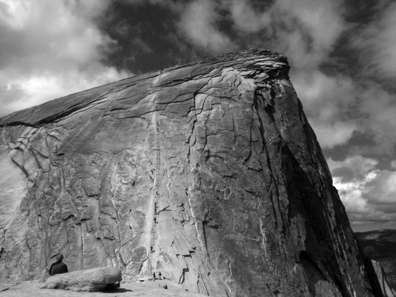 This was taken from the base of Half Dome before going up the cables. It's a lot more intimidating than it looks. The whole trip was one of the most mentally and physically demanding experiences of my life and I loved every second of it!