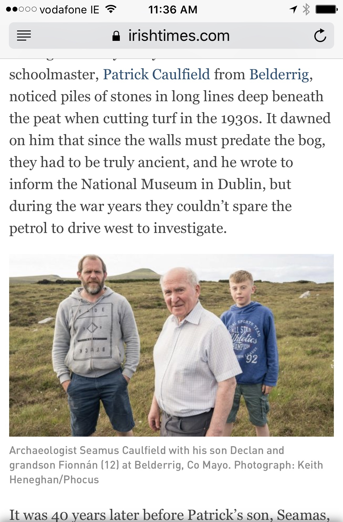 Featured in the Irish Times - While we werre in Belderrig, a fantastic article about Seamus and his family was published in the Irish Times. Be sure to check it out!