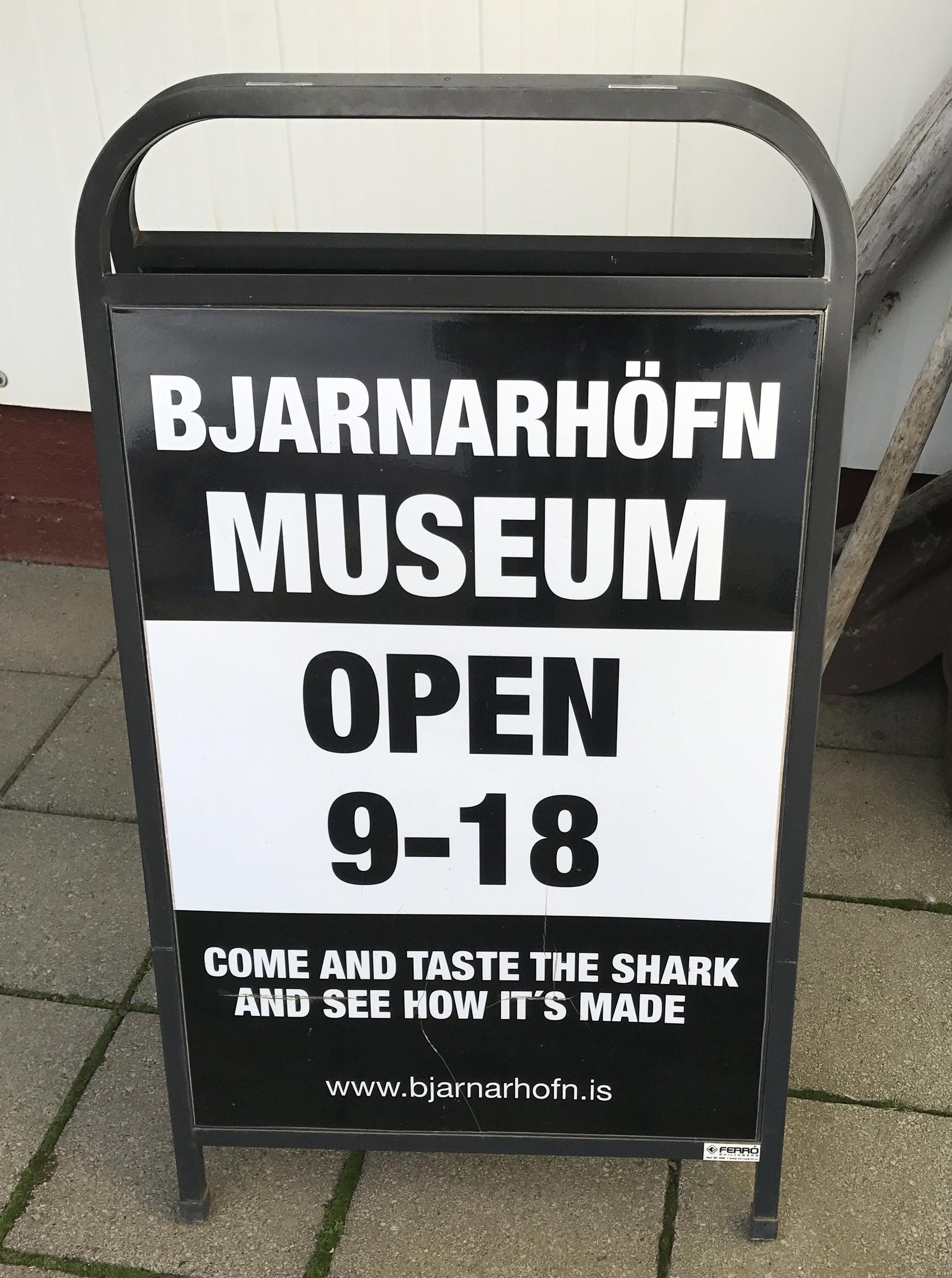 Shark Museum Sign