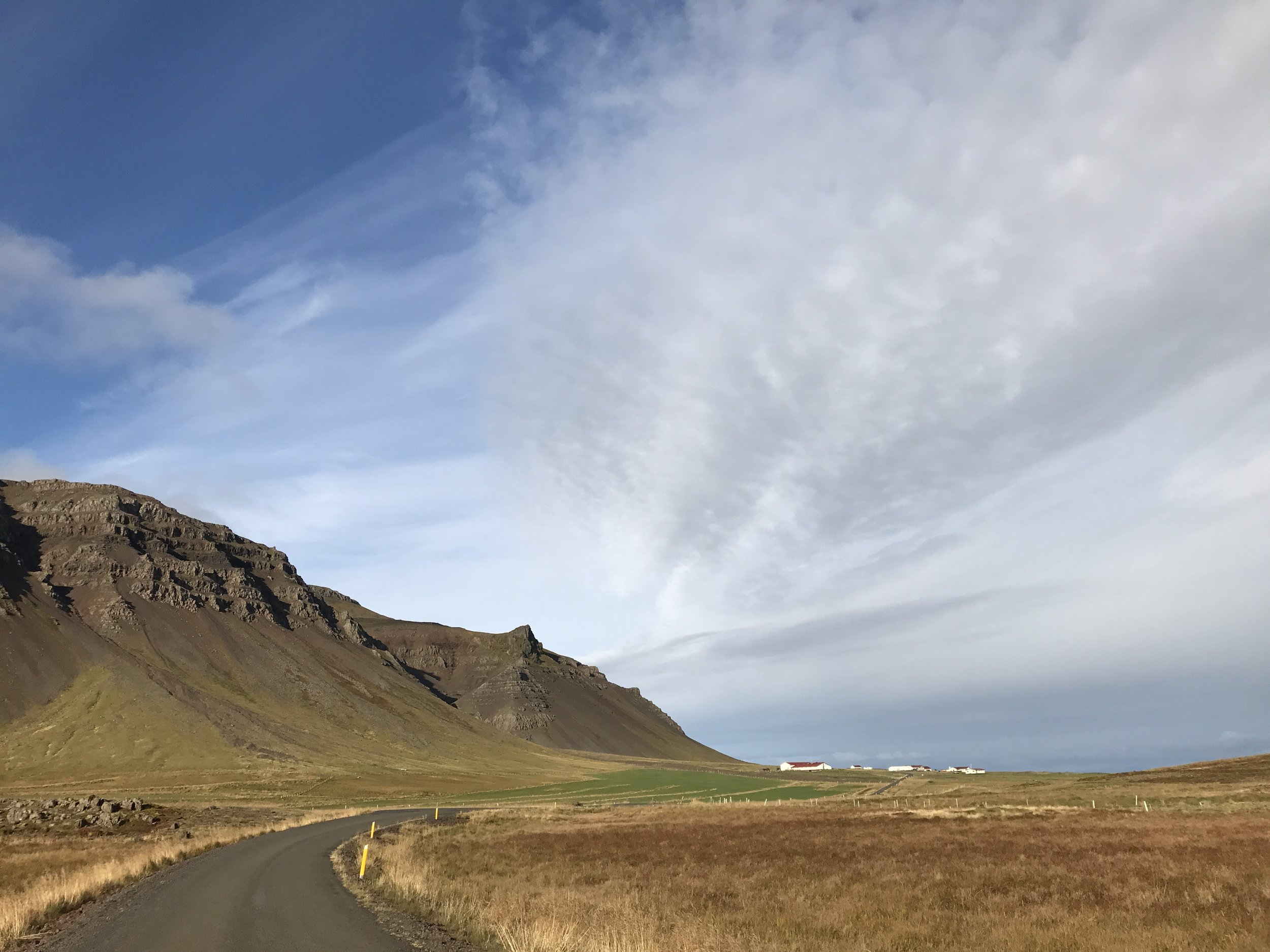 Right on the Icelandic horizon . . . the Shark Museum