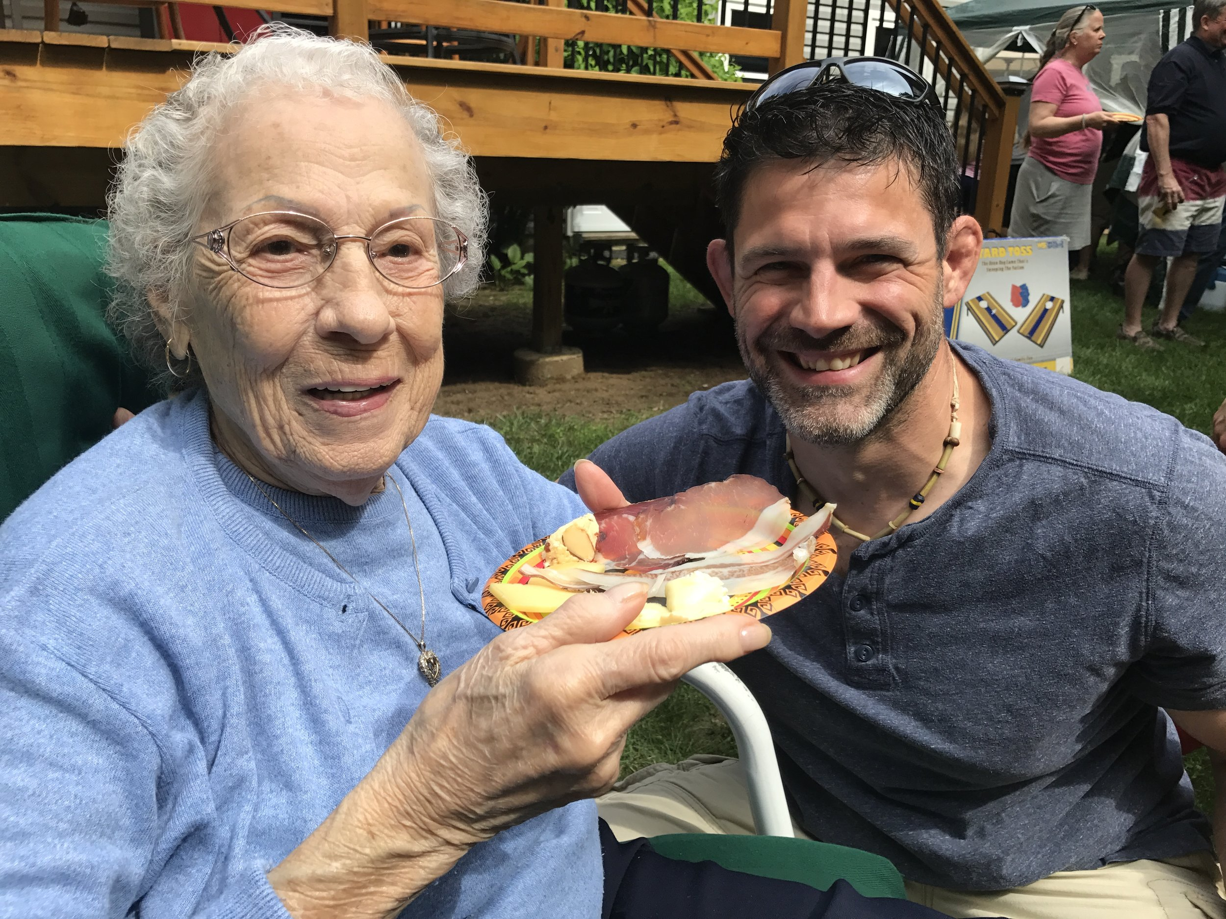 Sharing homemade cheese and charcuterie with my Italian Grandmother (May 2017)