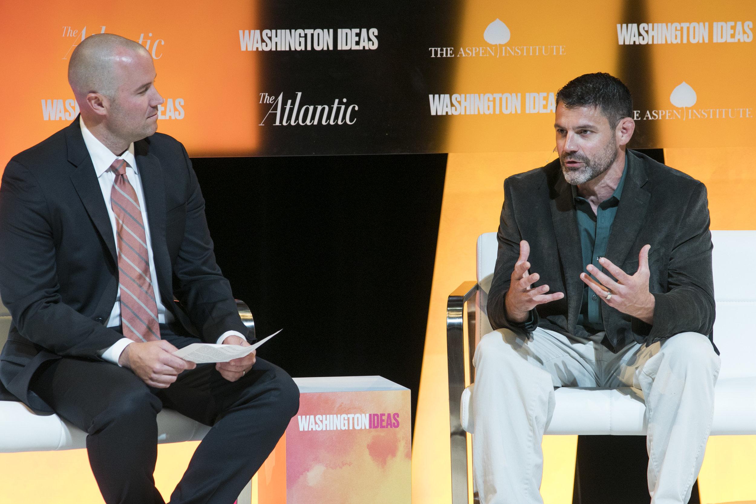 Dr. Bill Schindler sharing his research around ancestral diets at  Washington Ideas