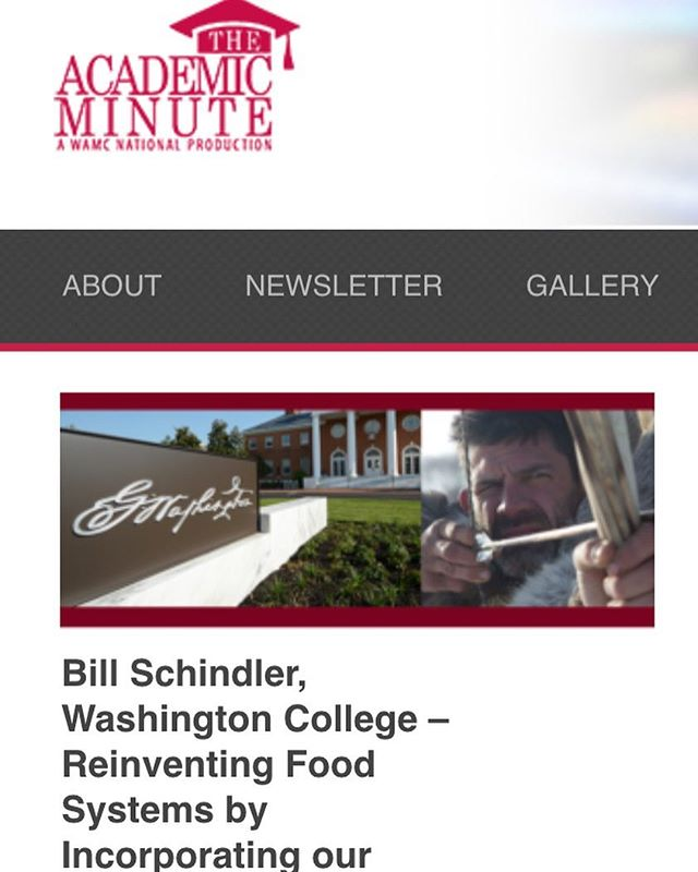 Proud to be a part of Washington College week on the Academic Minute where today I had the chance to talk (for just 1 minute) about my work making lessons from our dietary past relevant to our modern western lives. This is what my book is all about📕 . ➡️Link in bio! . @washcoll #esfl #foodevolutions #research #eatlikehumansagain #nutrientdense #itsgonnabeabook #livelikehumansagain #realfood #ancestraldiet @academicminute #themodernstoneagefamily