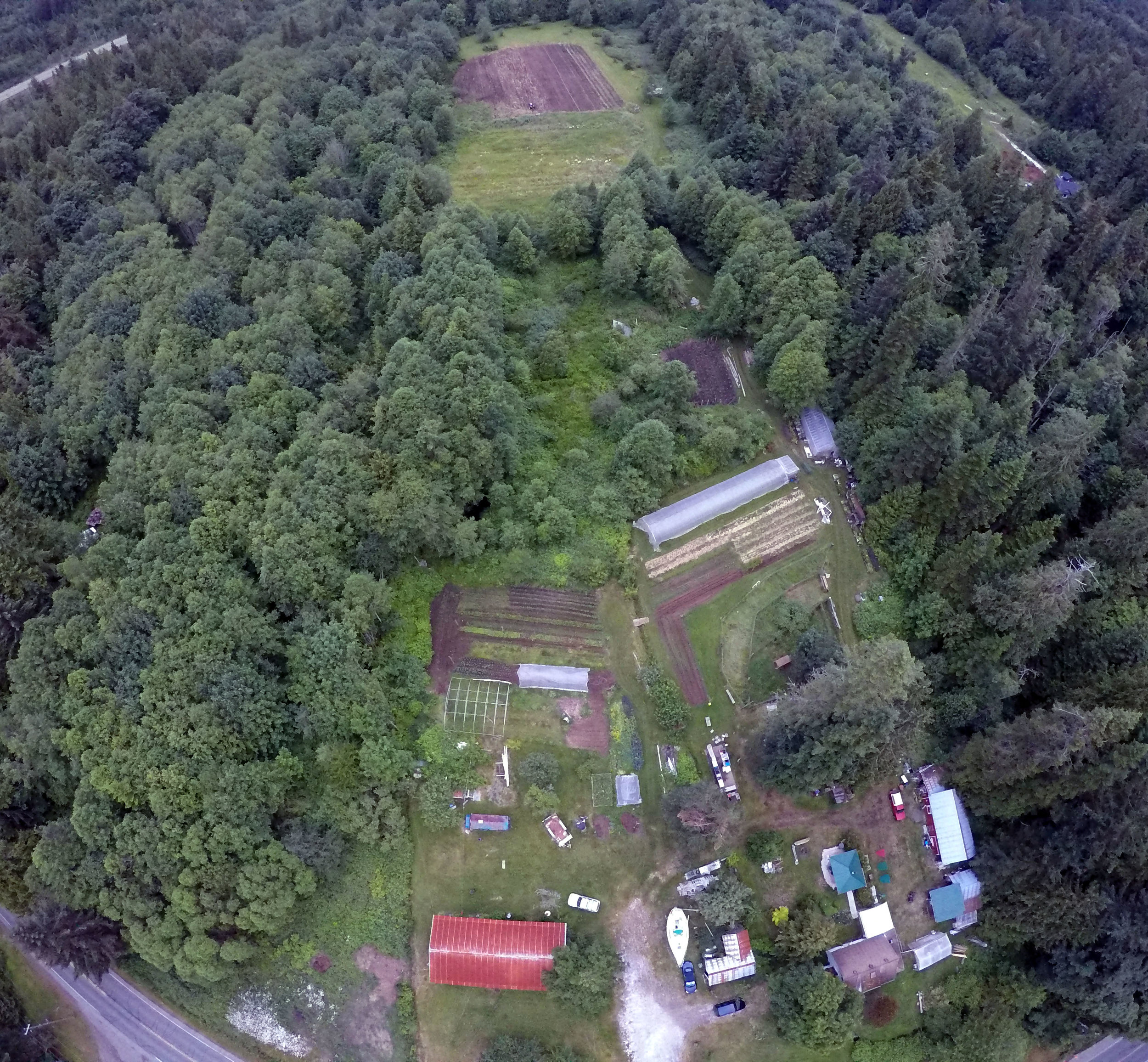 A birds-eye view of our little farm