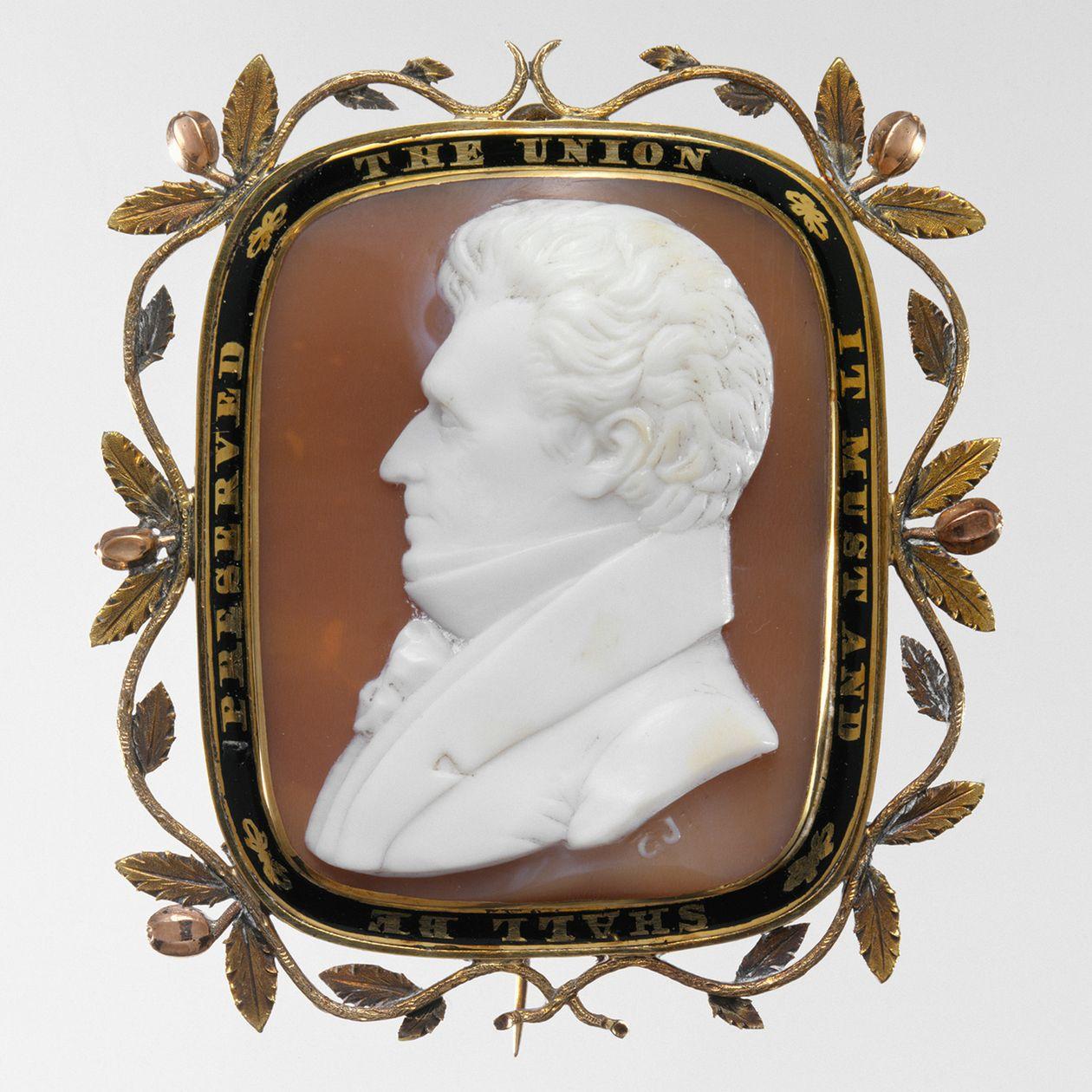 Cameo brooch of Andrew Jackson (c. 1835) Photo: The Metropolitan Museum of Art