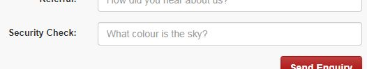 "Security Check question ""What colour is the sky?"""