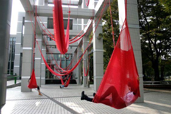 Install a hammock lounge -