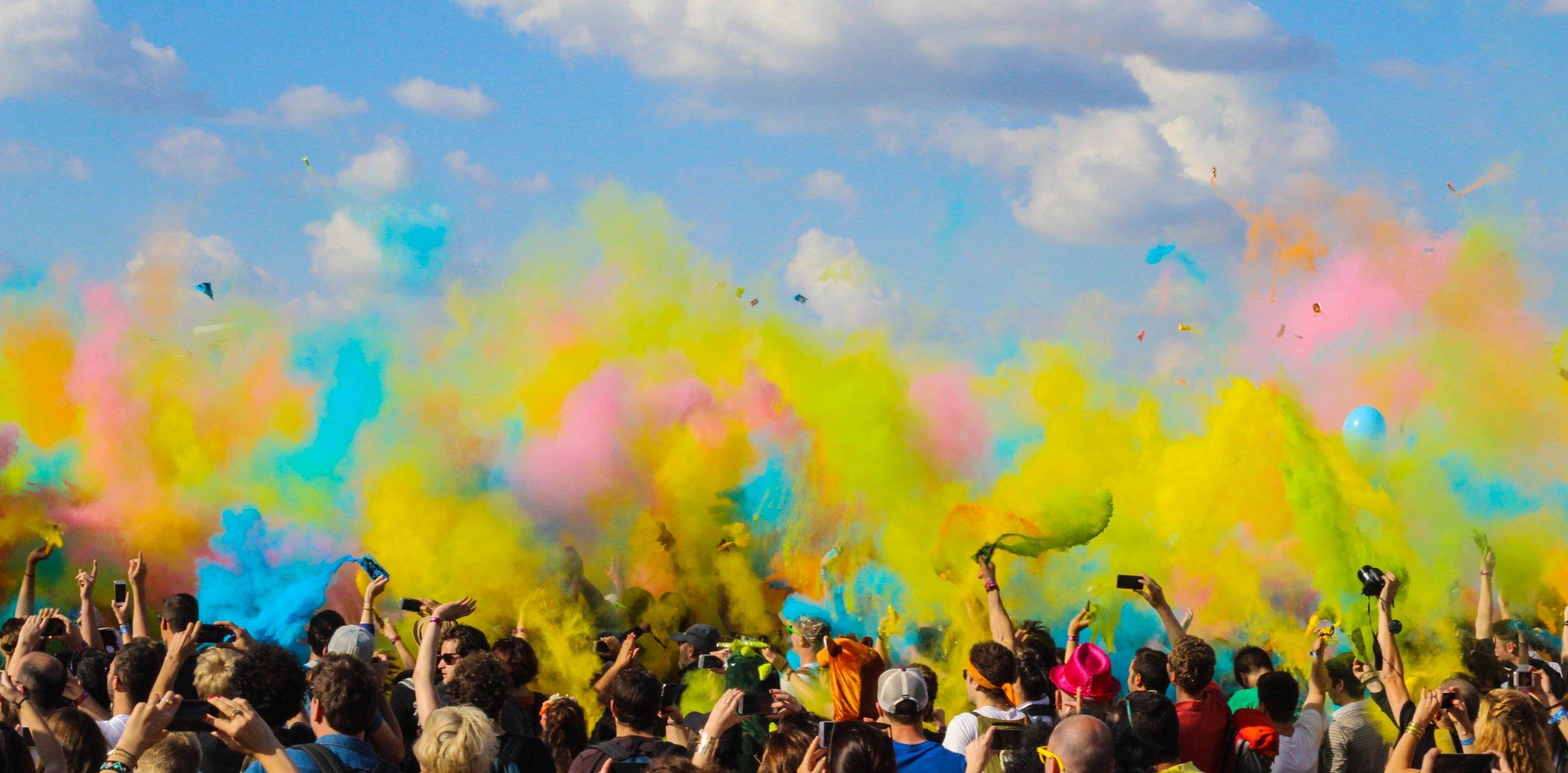 Organise a chalk bomb festival -