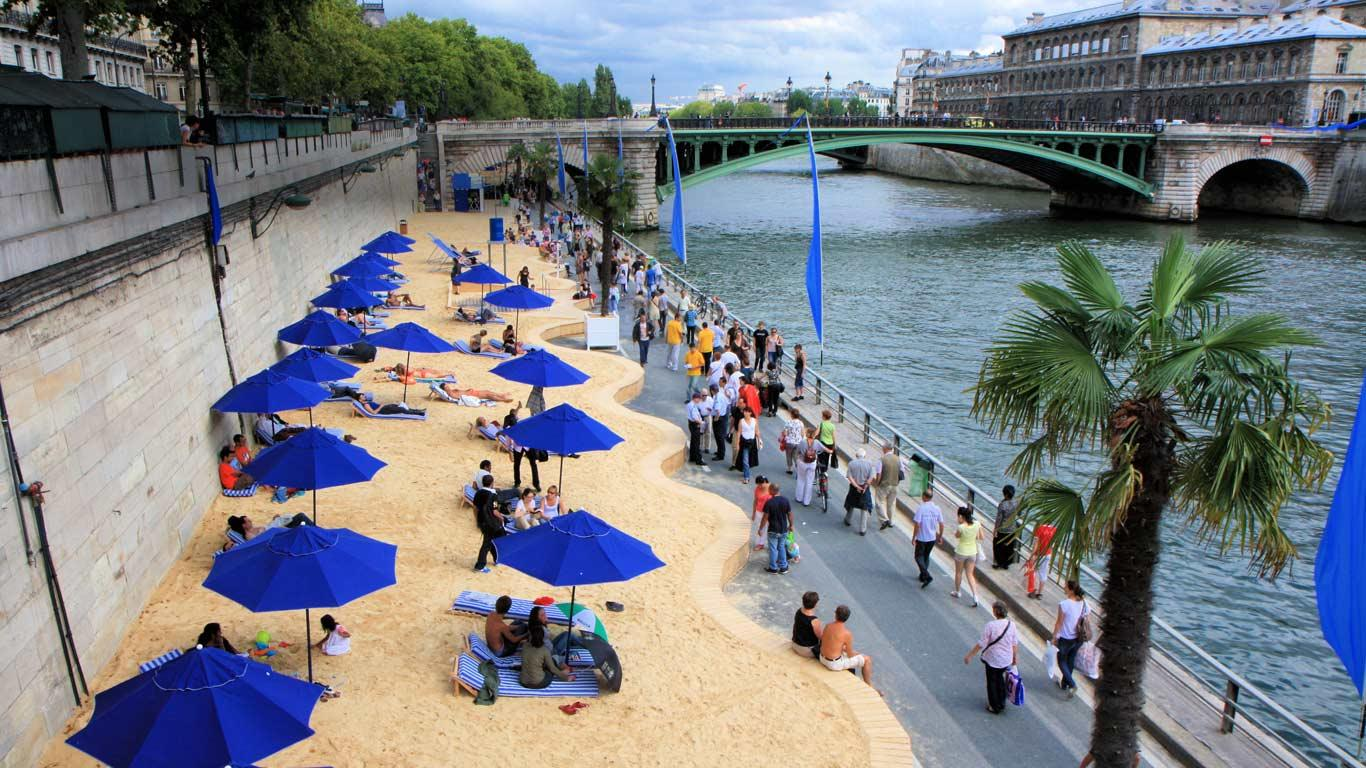Transform a carpark into a beach -