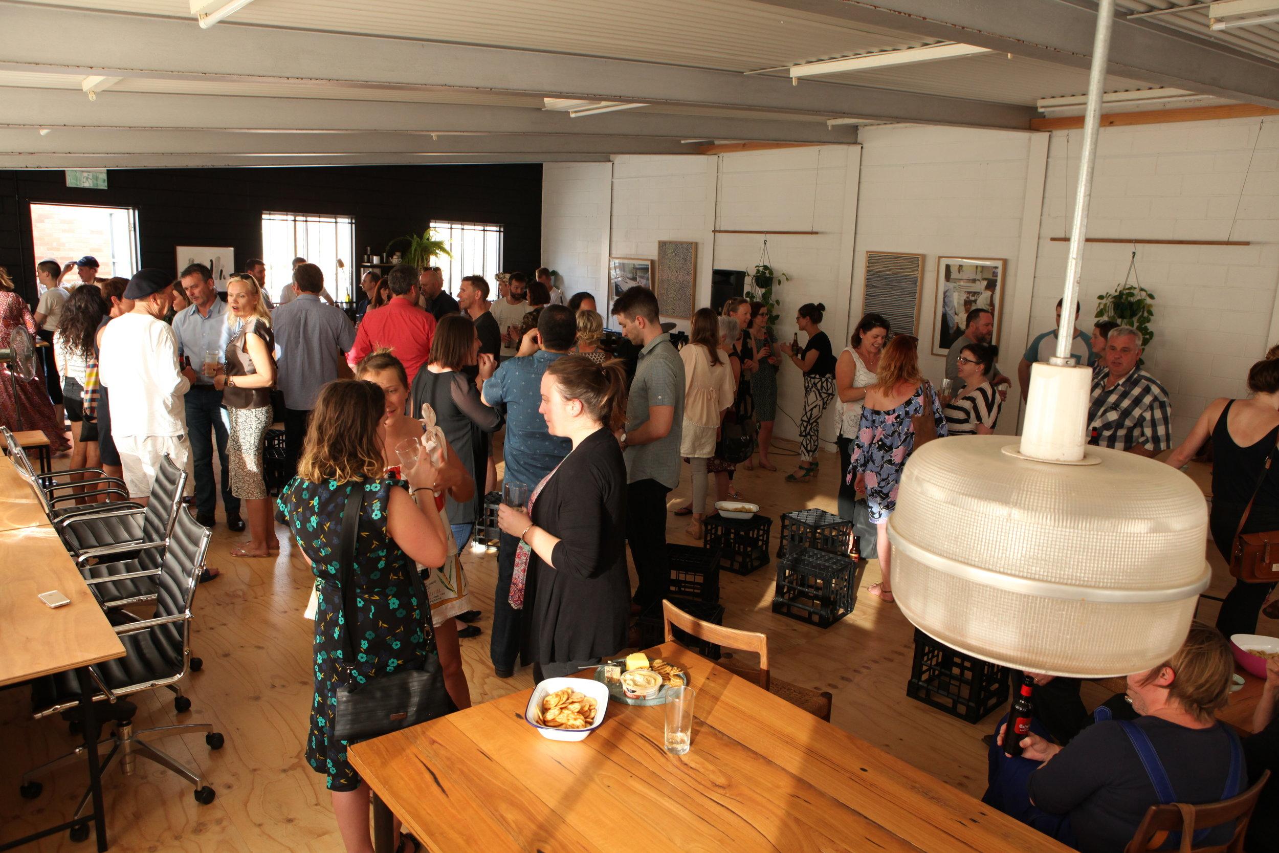 A happy crowd, mid beers, pre ideas