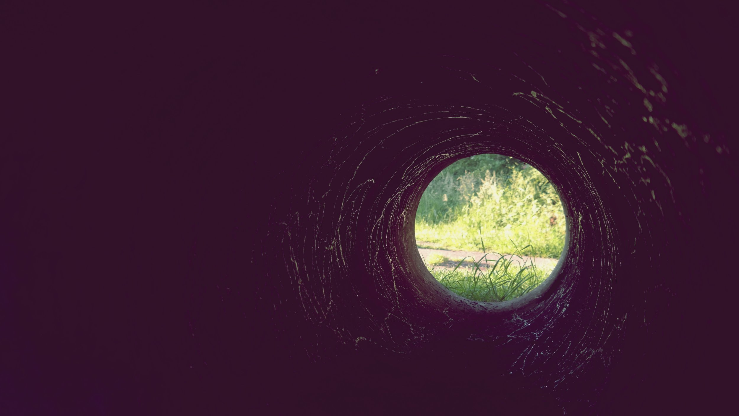 There is hope and light at the end of the tunnel... -