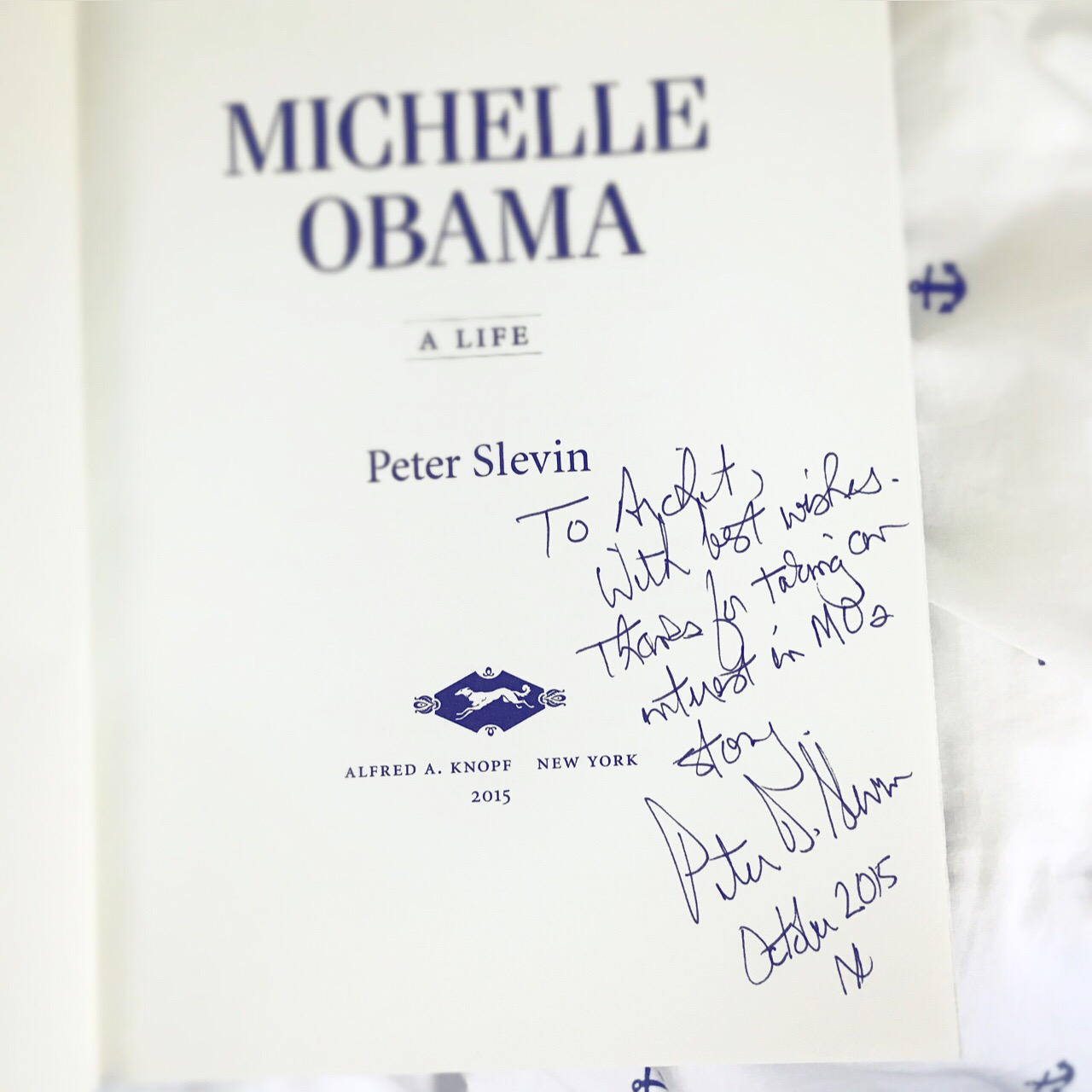 Peter signed my book!