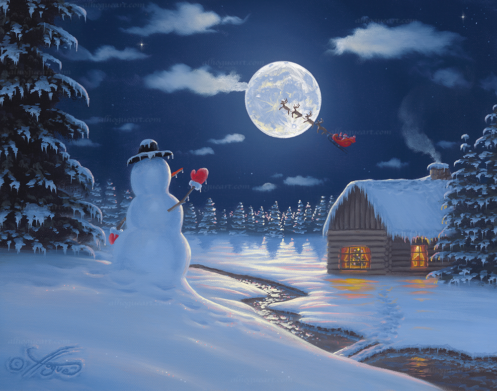 """Christmas Moon""  SN 16X20 giclee 50  Total 50"