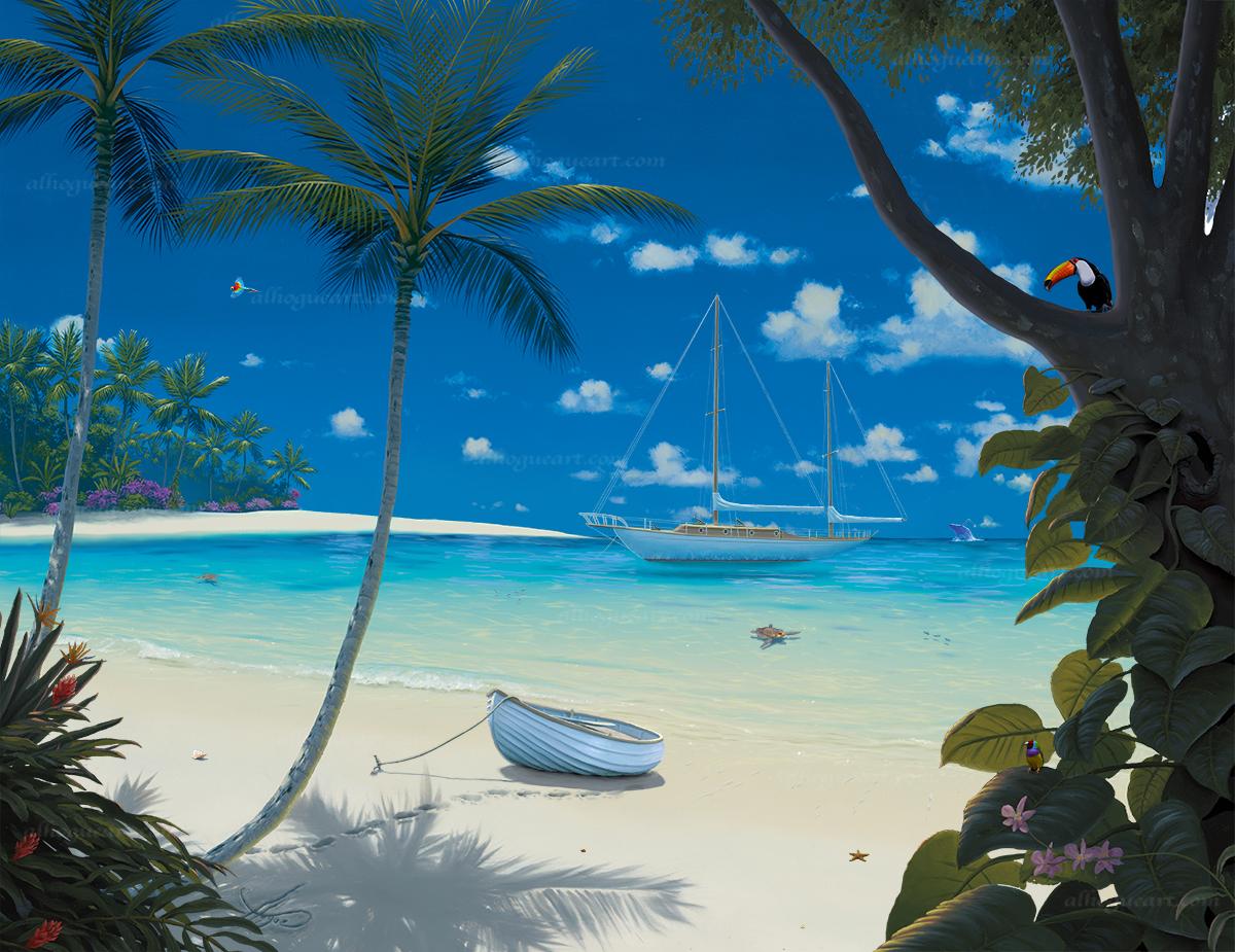 """Sunlit Paradise""  PP 16X20 giclee 50  AC 20X24 giclee 50  SN 24X30 giclee 140  MC 30X37.5 giclee 75  Total 315"