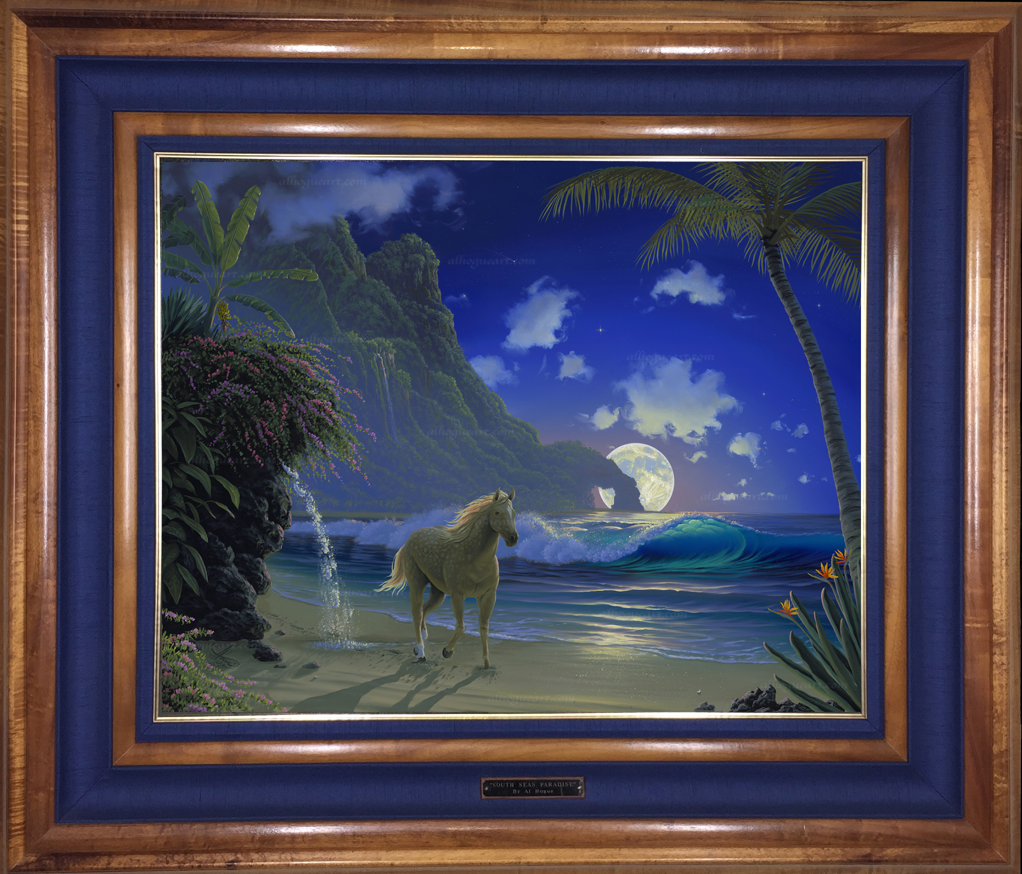 """Forever Free"" 24 x 30 oil on canvas ( framed in a Hawaiian Koawood frame )"