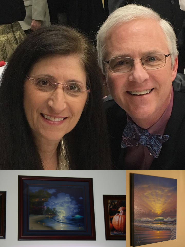 "John & Sherry Clifton 2017 their privet collection ""Banyan Moon"" limited addition & ""Soft Light"" original oil"