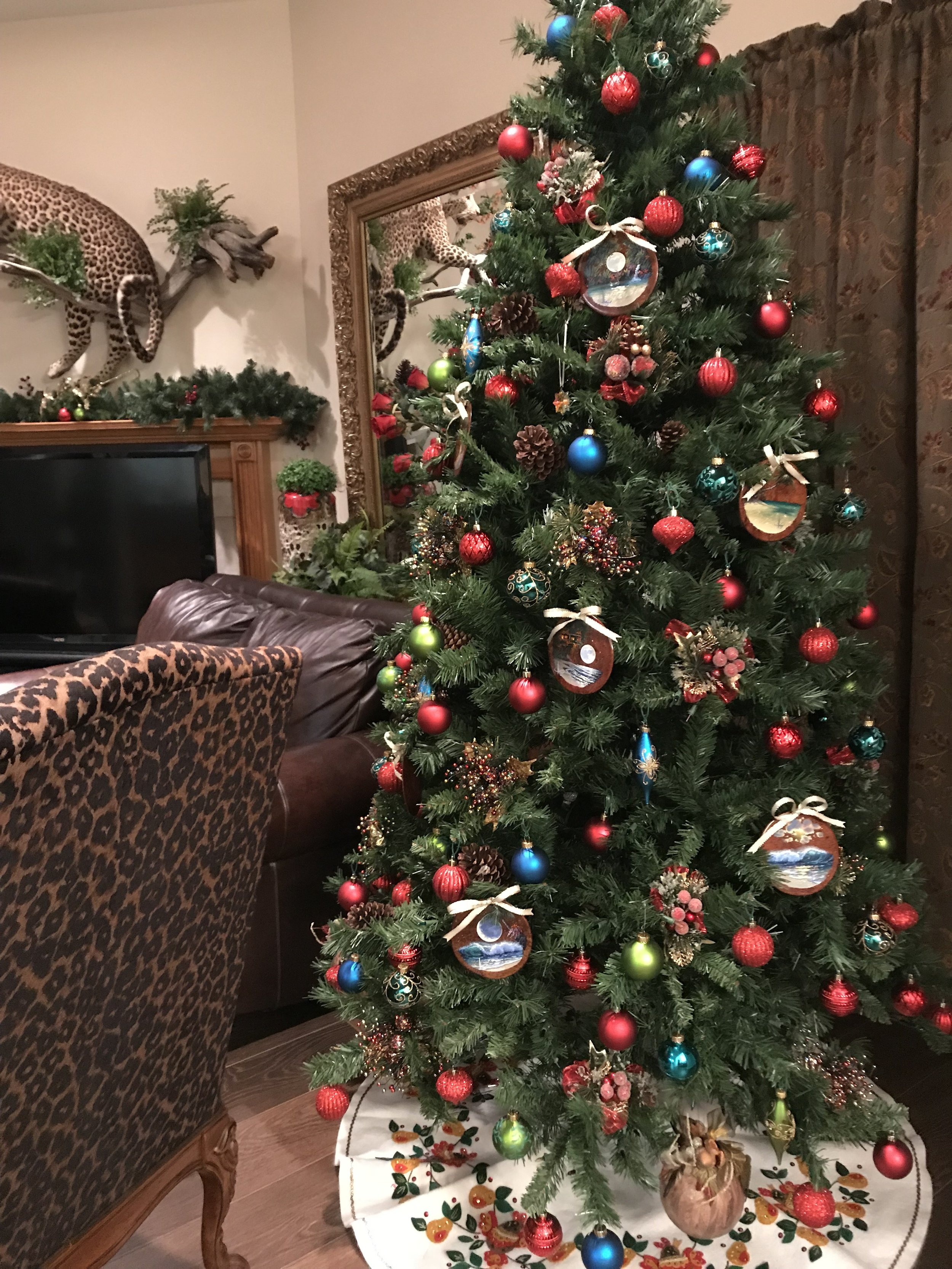 Collectors Christmas tree with my Christmas ornaments.