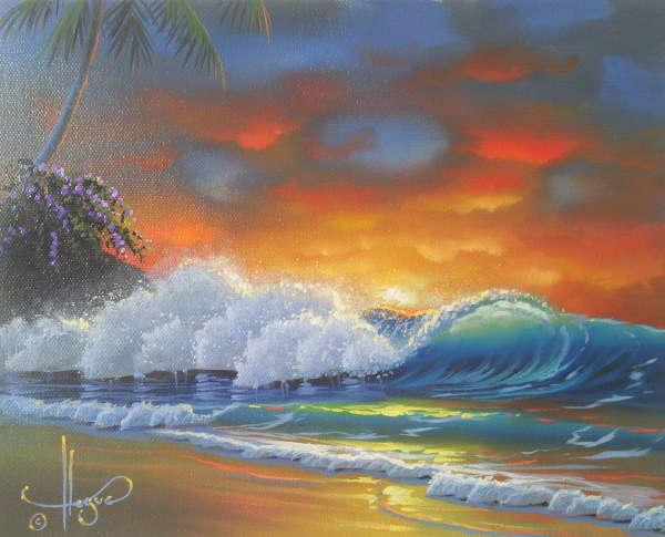"""Crimson Tide"" 12x16 oil in privet collection"
