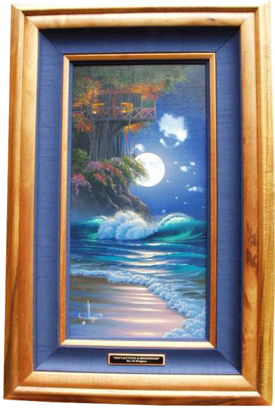 """""""Reflections of Moonlight"""" 15""""x 30"""" oil in the privet collection of the Massue family"""