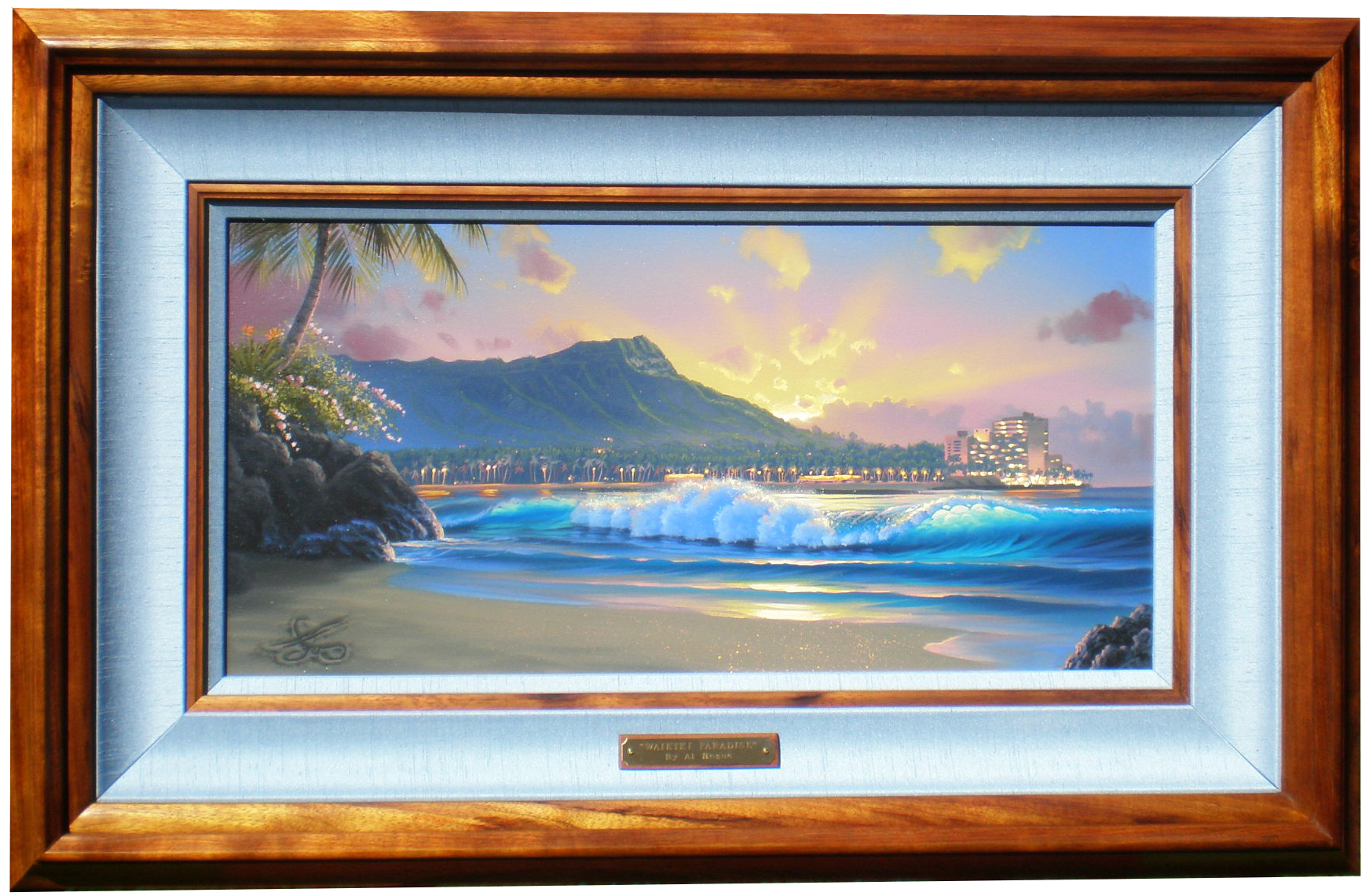 """Waikiki Paradise"" 12x24 in privet collection"