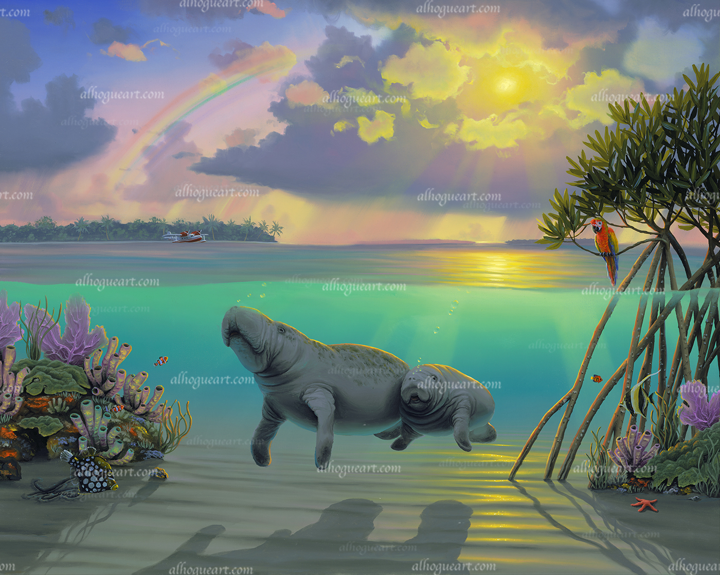 """""""Manatee's  Available on limited edition Giclee on canvas"""