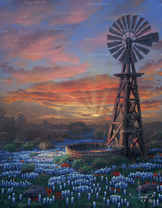 """Western Glow"" Available on limited edition Giclee on canvas"